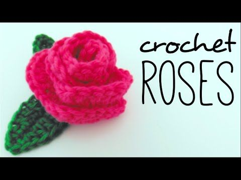 How to crochet flower rose absolute beginners - YouTube