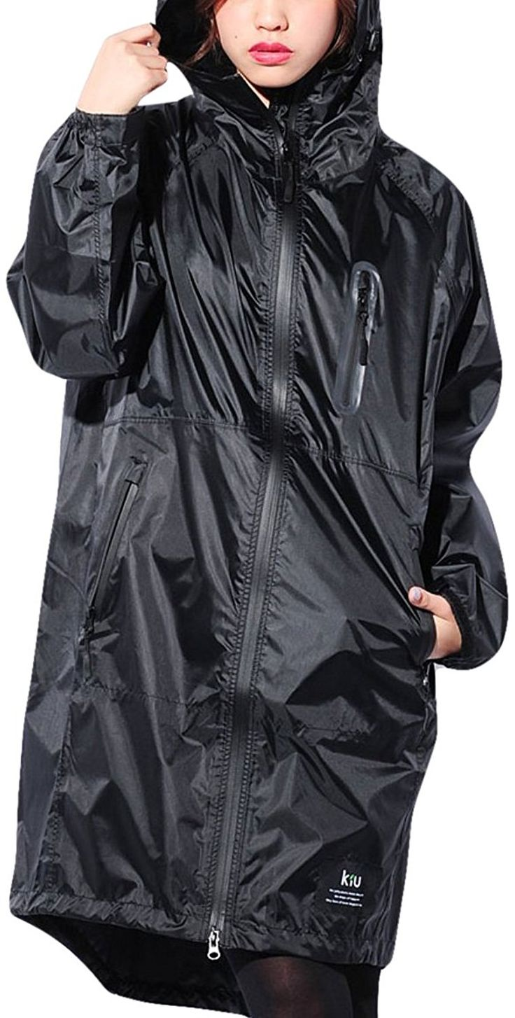 Amazon   ブラック F JACK PORT(ジャックポート) おしゃれ 撥水加工 ジップアップ フード付き レインコート レインウエア 自転車 雨用 雪用 防水 ステンカラー スプリングコート ステンカラーコート JK120130010001   レインコート・ポンチョ 通販