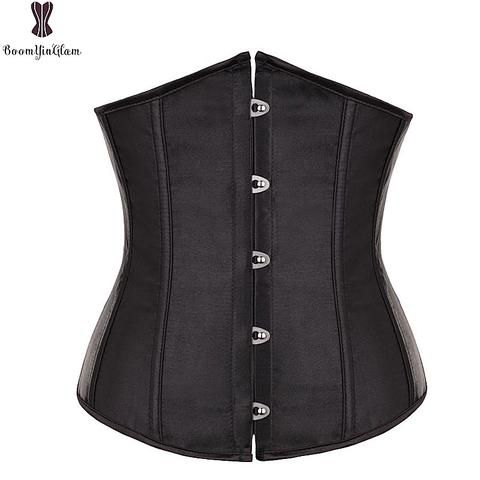 2af5ce936a617 Free Shipping Satin Mini Waist cincher Bustiers Top Workout Shape Body  shaper Plus Size Underbust sexy women Corset S-6XL 2833
