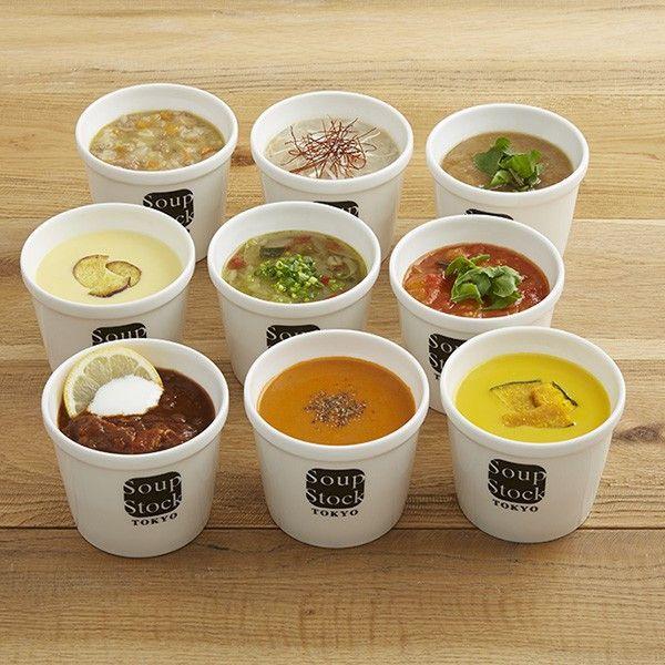 選ぶ楽しみ、味わう楽しみ。スープ専門店のバラエティ豊かなスープのセットです。<セット内容> 1パック180g 9個入りとうもろこしとさつま芋のスープ × 1北海道産かぼちゃのスープ × 1緑の野菜と岩塩のスープ × 1東京参鶏湯(サンゲタン)× 1田舎風ビーフスープ × 1東京ボルシチ × 1オマール海老のビスク × 1オニオンスープ × 1ミネストローネ × 1