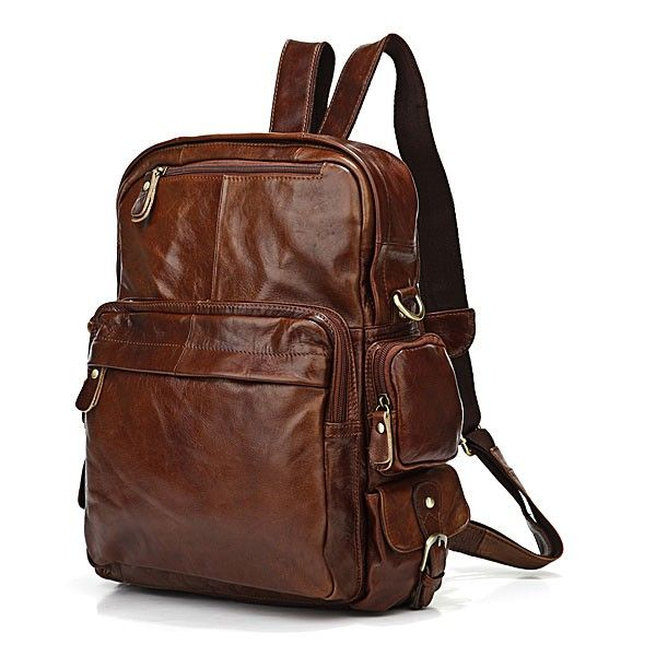 Vintage Tan Leather  Backpack via Vintage Leather Bags. Click on the image to see more!