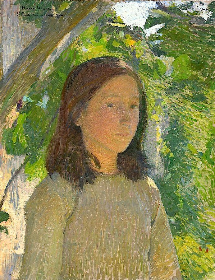 """bofransson:    Henri MARTIN (1860-1943) """"Portrait de jeune femme"""""""