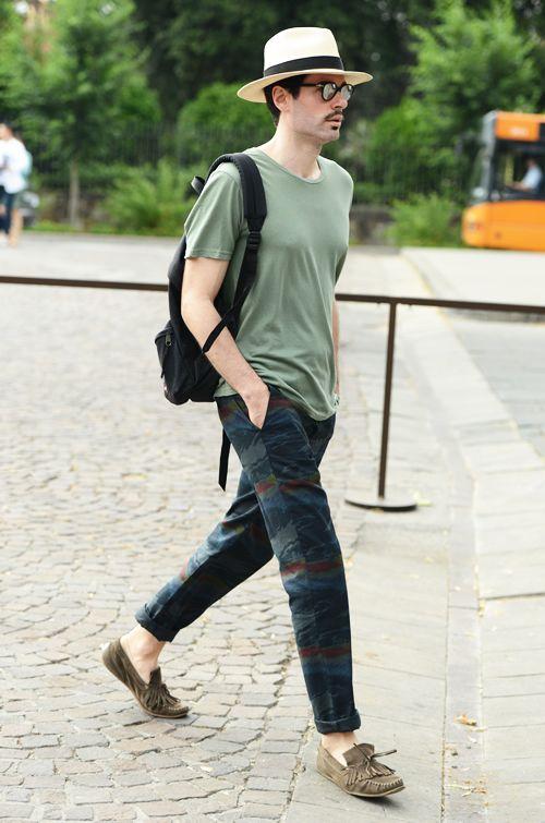 画像 : 【メンズファッション】海外のストリートスナップ【夏編】 - NAVER まとめ