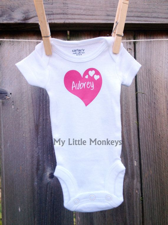 239 best textil images on pinterest applique babies clothes and personalized baby onesie bodysuit custom personalized baby gift via etsy negle Images