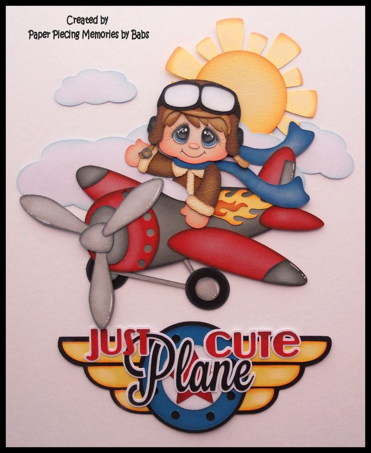 Paper piecing for scrapbooking, die cut, embellishment: Just Plane Cutre created by Paper Piecing Memories by Babs https://www.facebook.com/paperpiecingmemories.bybabs/?fref=ts