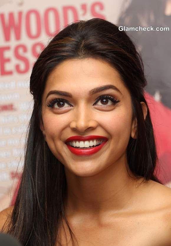 Deepika Padukone 2013 Hairstyle Makeup