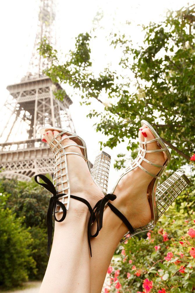 Paris YSL sandals