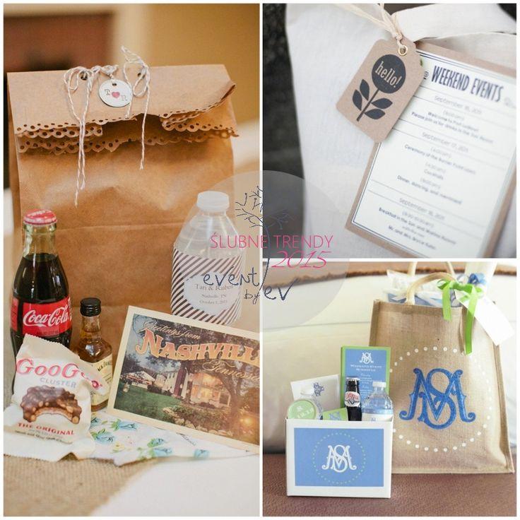 ślubne torby powitalne /wedding welcome bag
