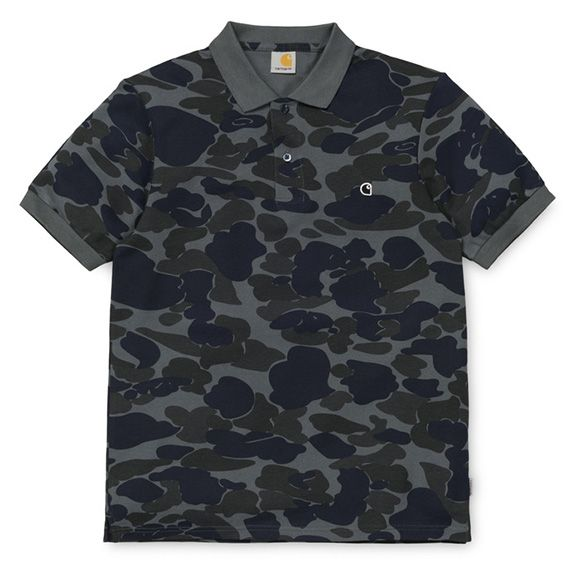 Carhartt WIP Balboa Polo Shirt - Duke Blue