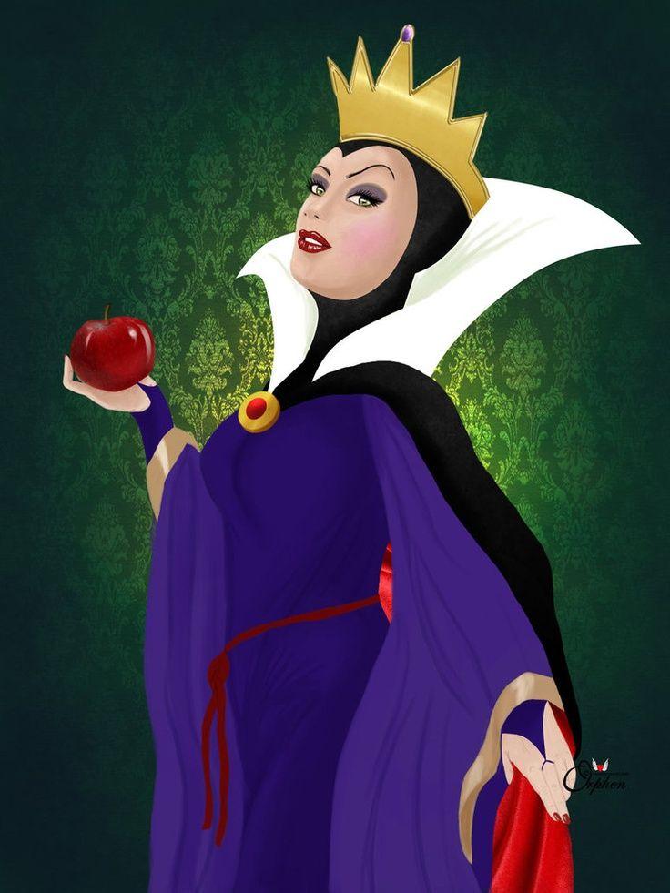 Картинка злой королевы из сказки белоснежка