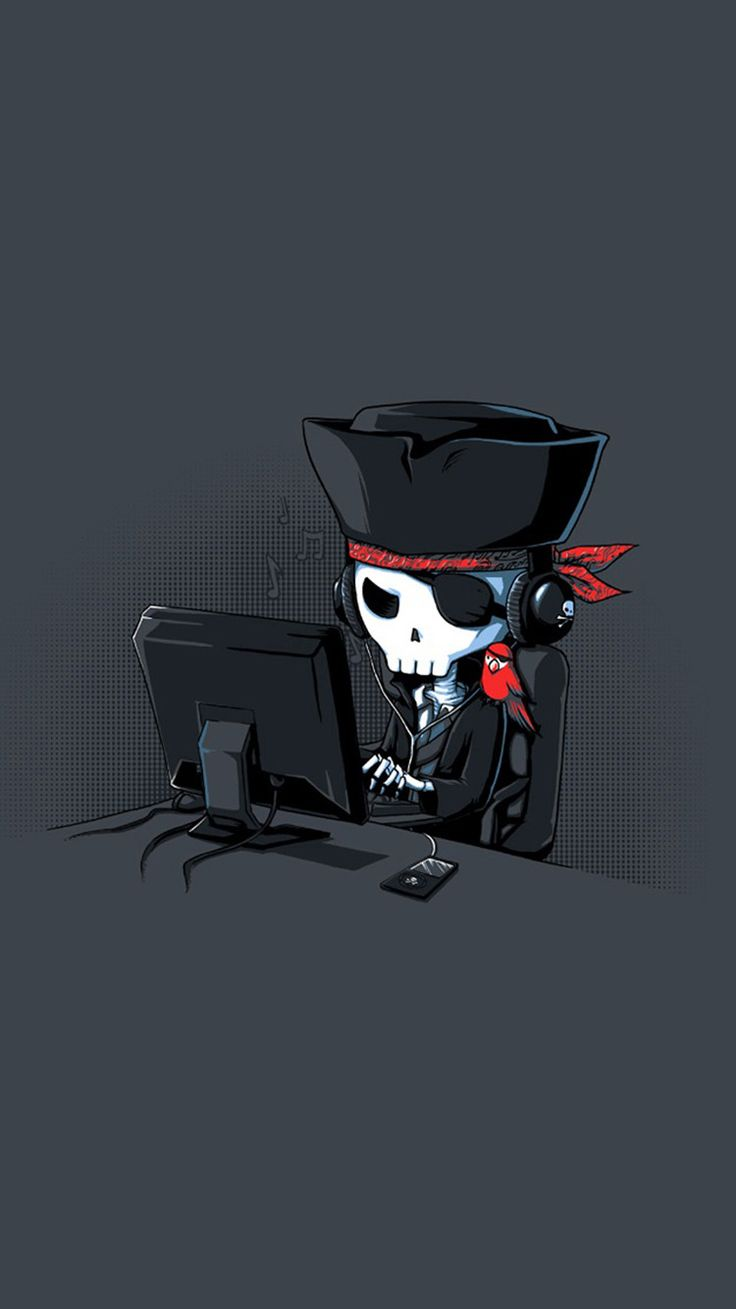 Zombie With Hat - Tap to see more funny home-screen wallpapers! | @mobile9