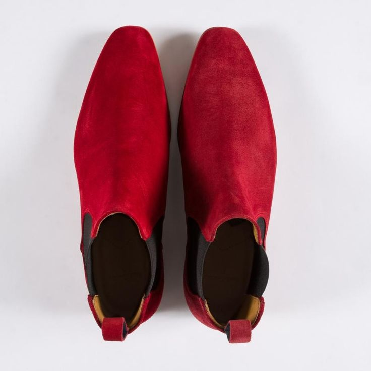 Bottines Chelsea Paul Smith Homme 'Falconer' En Suède Rouge