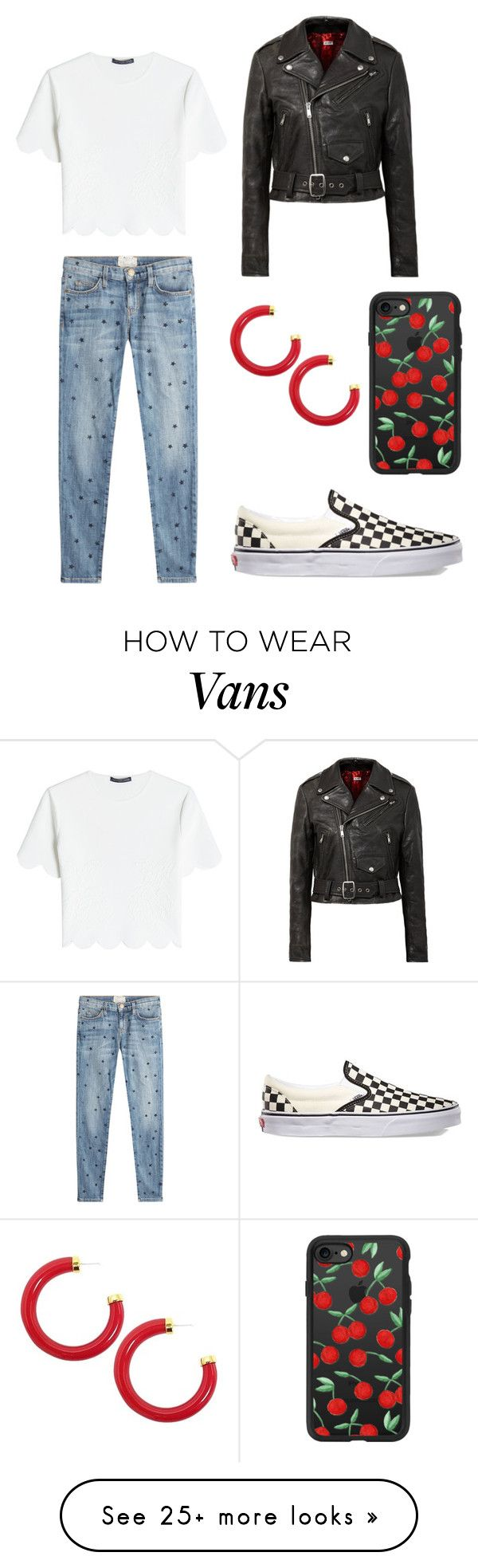 """""""Suggested """" by emmathekilljoy on Polyvore featuring RE/DONE, Vans, Current/Elliott, Casetify, Alexander McQueen and Kenneth Jay Lane"""