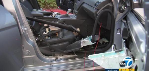 Bear mauls interior of Mercedes parked at California ski resort
