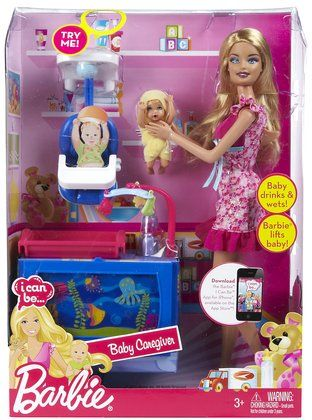 Barbie I Can Be Baby Caregiver Doll Playset Free