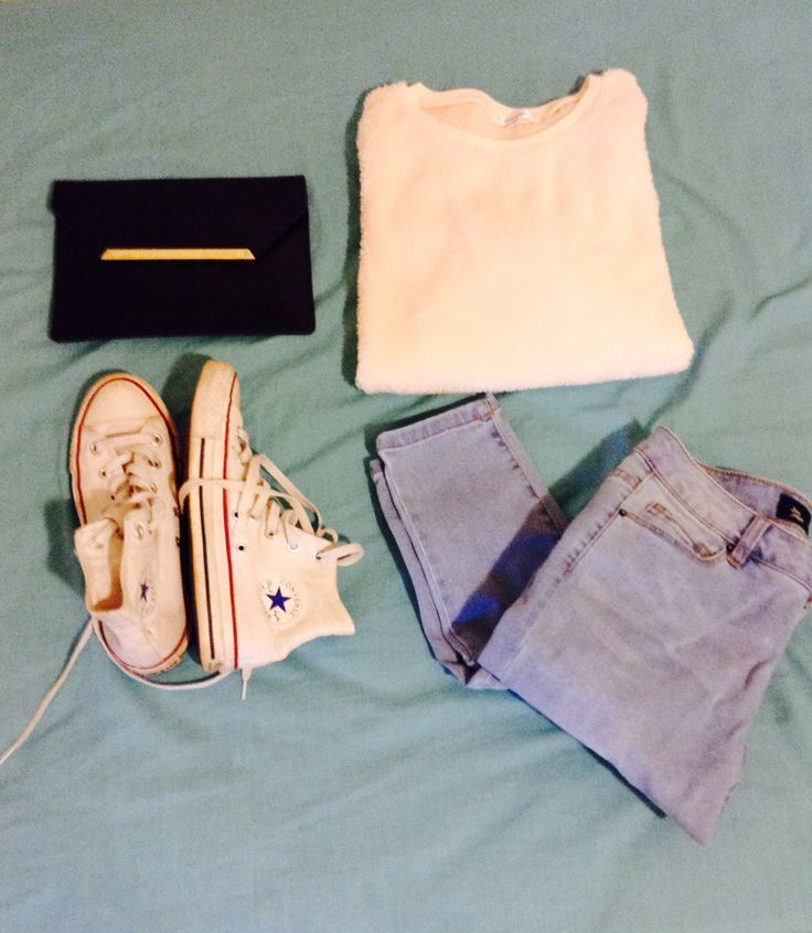 Winter must haves; Origami clutch- mimco, fluffy sweater- valley girl, converse, jeans- Jay Jays.