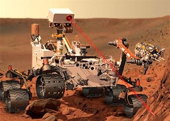 Curiosity rover zapping Mars! Too cool for school.