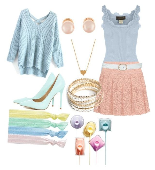 Pastel dreams by ellen-kate on Polyvore featuring polyvore, fashion, style, Chicwish, Rosemunde, DKNY, AX Paris, ZooShoo, Kenneth Jay Lane, Minnie Grace, Ribband and M&Co