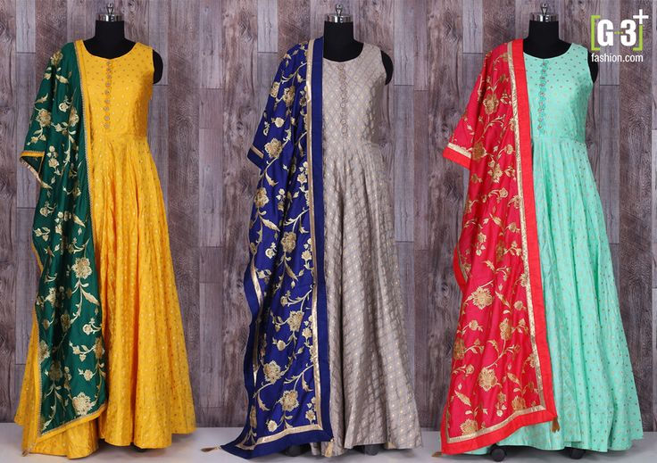 The Summer Bright Festive Wear Salwar Suits New Styles