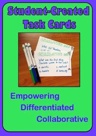 Minds in Bloom: Kid-Created Task Cards! I love the idea of the children taking charge.