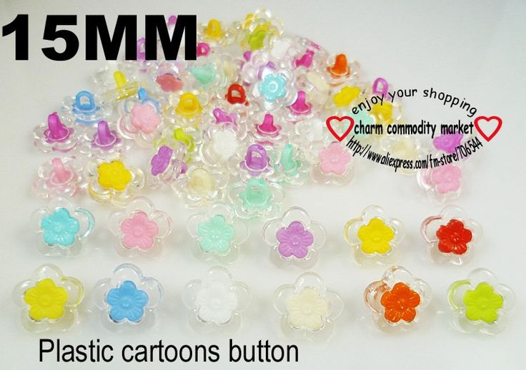 200pcs flowers design cartoons sewing clothes child  button clothing accessories charms crafts  P-036 $3,73
