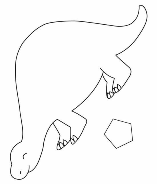 dinosaur outline coloring pages - photo#13