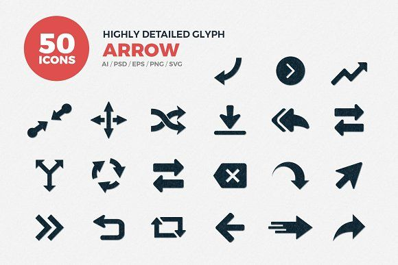 JI-Glyph Arrows Icons Set by Jumbo Icons on @creativemarket