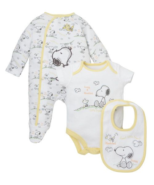 Snoopy 3 Piece Set http://www.parentideal.co.uk/mothercare---baby-clothes.html