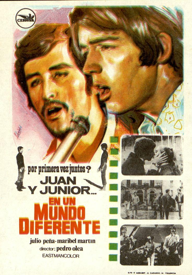 347.     HERMIDA. Juan y Junior… en un mundo diferente. Dirigida por Pedro Olea. Valencia: Mirabet, [1970].  #ProgramasdeMano #BbtkULL #CineEspañol #DiadelLibro2014