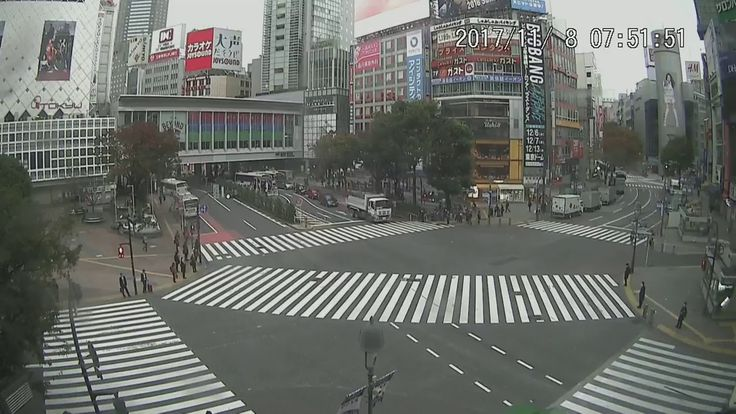 【LIVE CAMERA】渋谷スクランブル交差点 ライブ映像 Shibuya scramble crossing