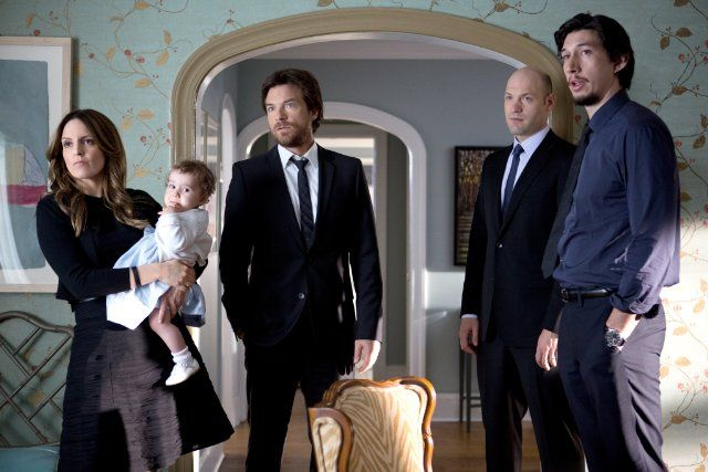 Still of Jason Bateman, Tina Fey, Corey Stoll and Adam Driver in This Is Where I Leave You (2014)