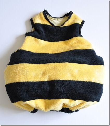 Could use this pattern to make Dex a Mike Wazowski costume... Hammer & Thread: Happy Bee Costume