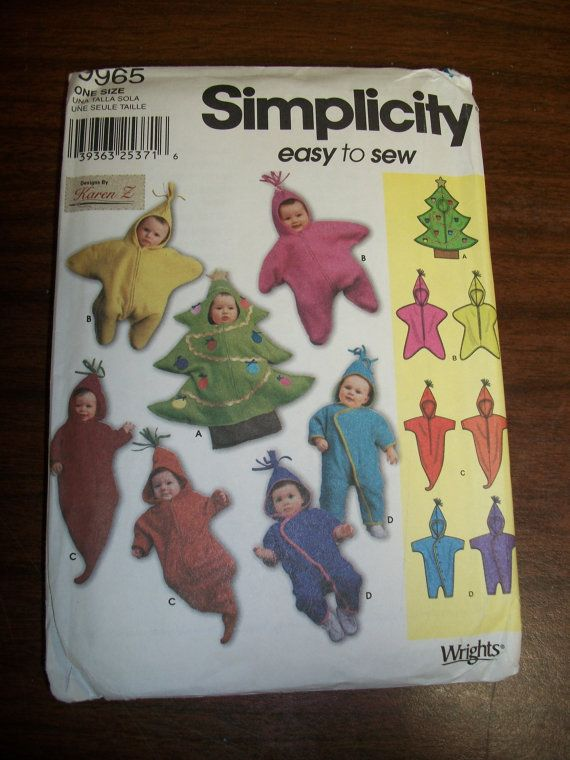 Simplicity Pattern 9965 Novelty Baby Fleece Buntings Hobby And