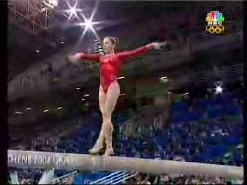 Carly Patterson on beam, 2004 Athens Olympics.  i am having a hard time accepting that this was 8 years ago: Beams Dismount, Balance Beams, Beams 04, Killers Beams, Hard Time, Beams Routines, Patterson Beams, Amazing Beams