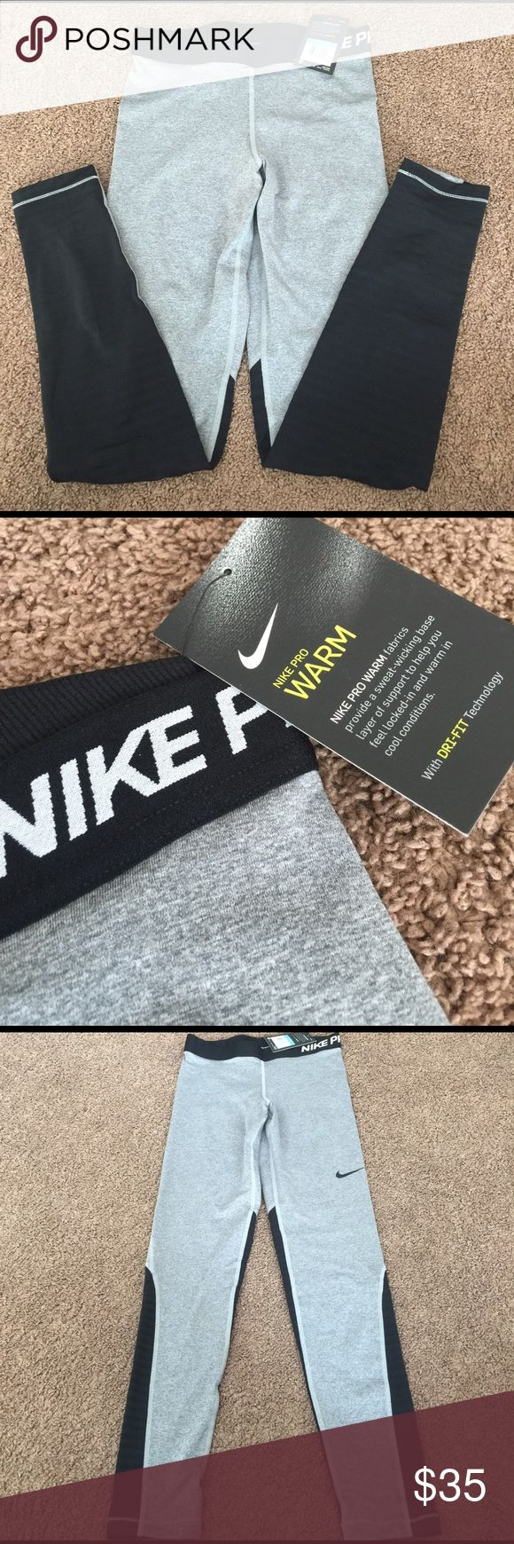 BNWT Nike Pro Warm leggings size medium. Brand NEW w/tag Nike Pro Warm leggings size medium! Decent offers are more than welcomed 😊 Nike Pants Leggings