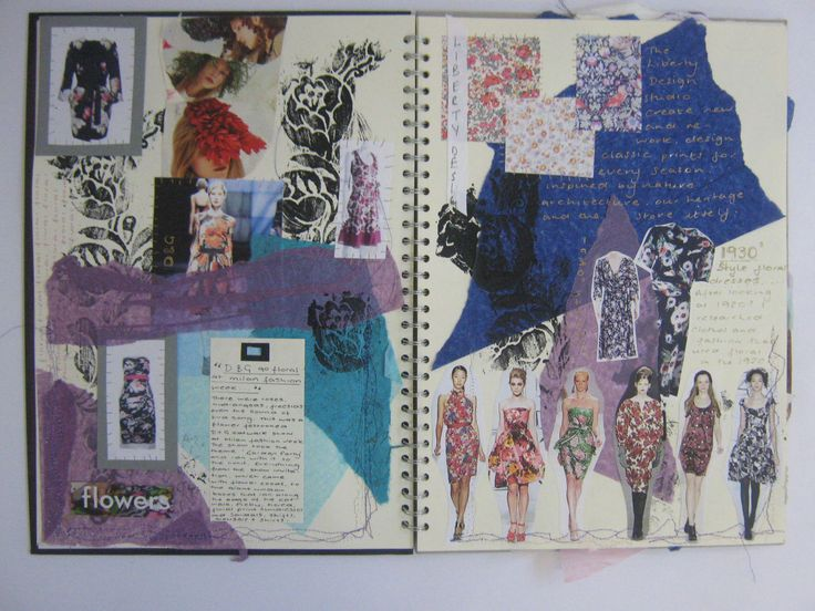 All of her ideas and designs came together in a journal.