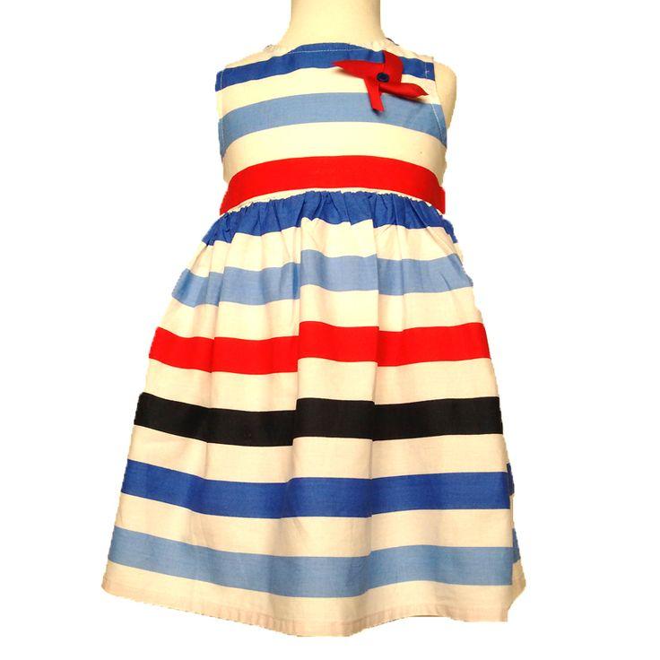 Φούστες Φορέματα κορίτσι βρεφικό : Φόρεμα βρεφικό SPRING 2015 ΜΠΛΈ ΚΌΚΚΙΝΟ