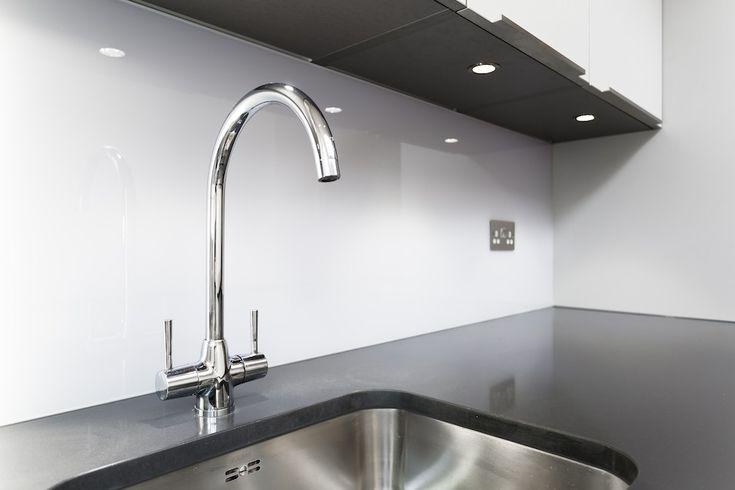Chrome swan neck kitchen tap