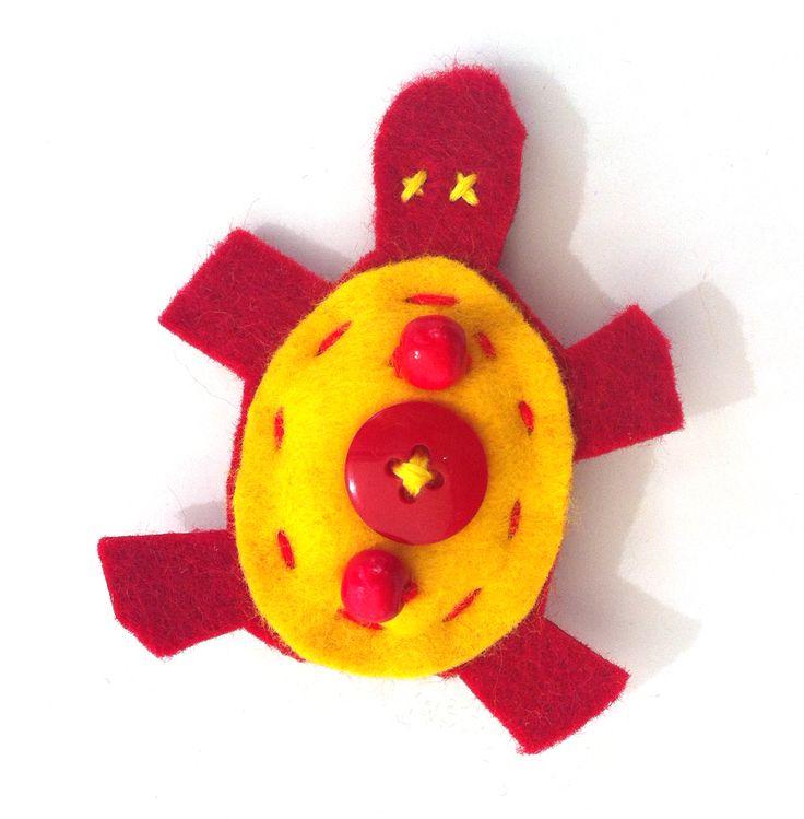 Tartaruga rossa e gialla