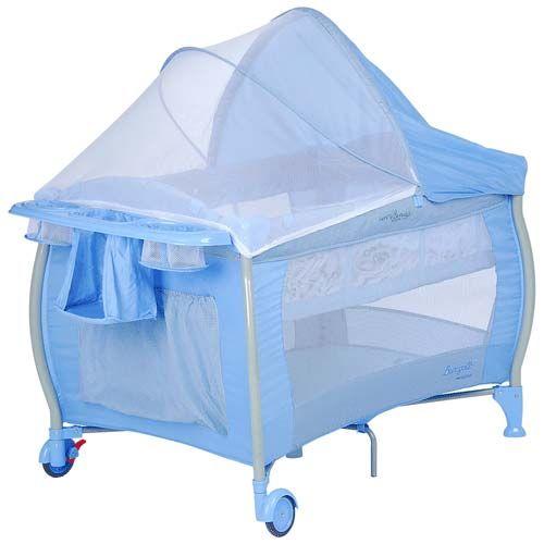 Berço Nanna Blue Check 5029AZC12 - Burigotto