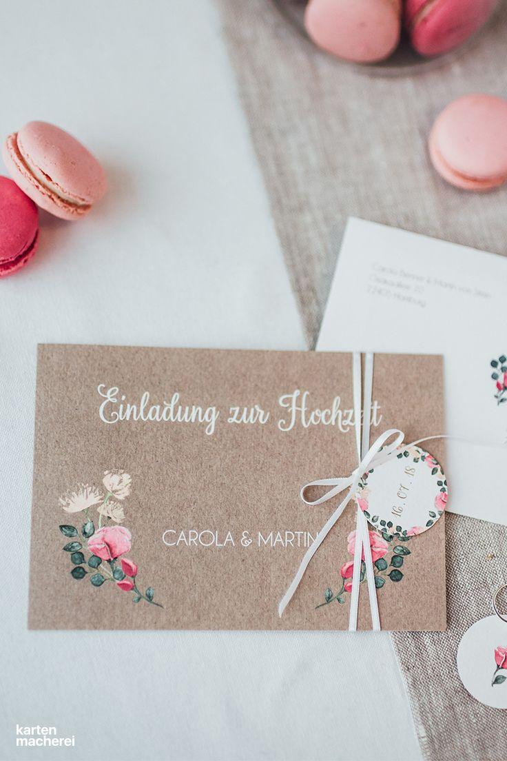 Hochzeitseinladung Vintage Rose Ekkor 2019 Wedding Invitations