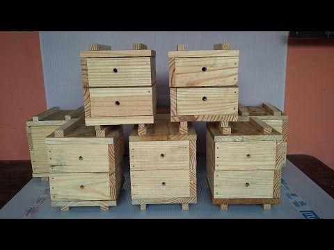 Como Fazer Caixa Racional 1- Colmeia abelha sem ferrão Com Plano de Corte - YouTube
