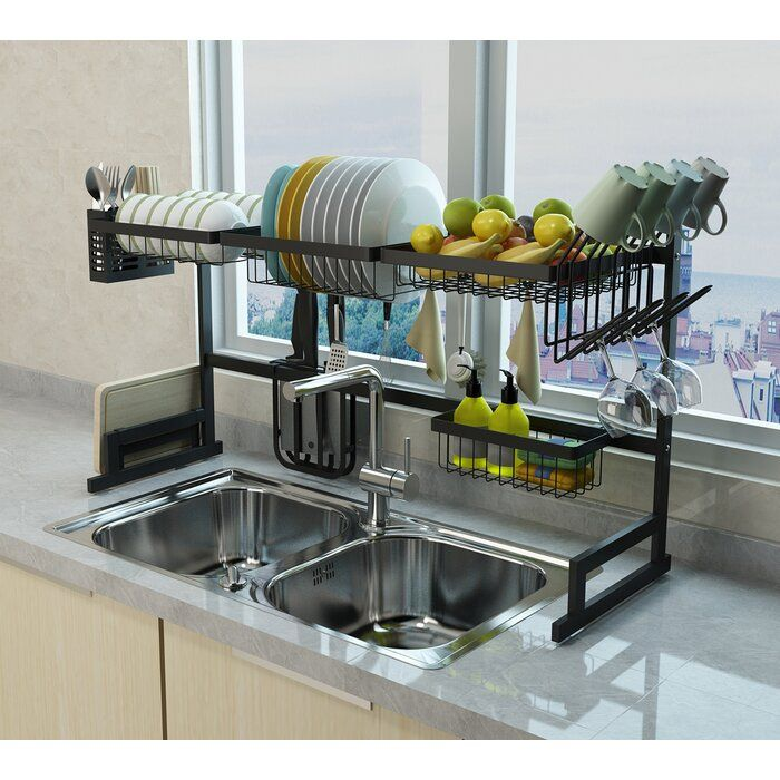 Emodern Decor 2 Tier Dish Rack Kitchen Space Savers Kitchen Space Kitchen Sink Accessories