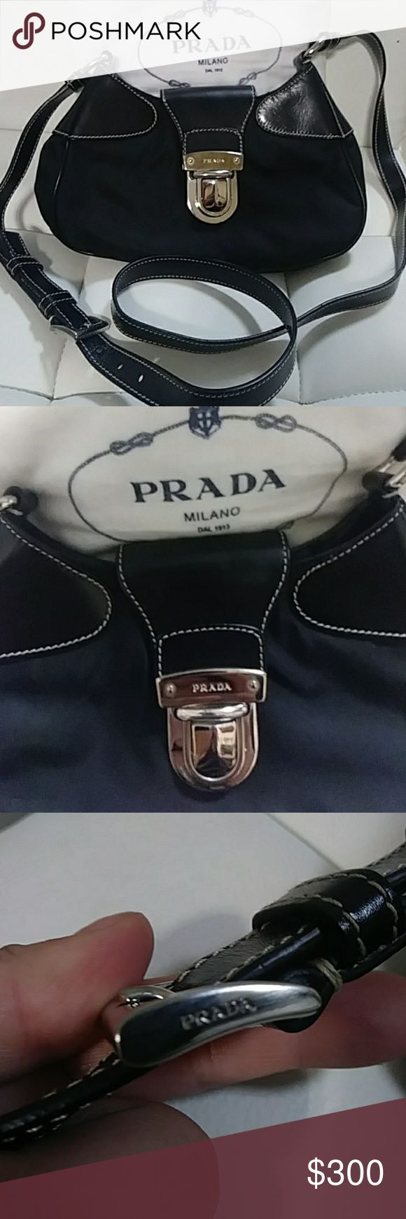 Authentic Prada Small Crossbody Brand New & NeVeR UseD.  Authentic - OF COURSE!  Nylon and leather.  Small crossbody that can b dressed up r down. Will come with dustbag. Any questions plz feel free 2 ask me anything. ✌, 💗, and HaPpY PoShInG dollz !!! Prada Bags Crossbody Bags