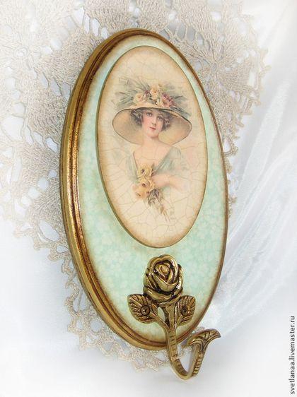 """Прихожая ручной работы. Ярмарка Мастеров - ручная работа Вешалка """"Девушки и розы"""". Handmade."""