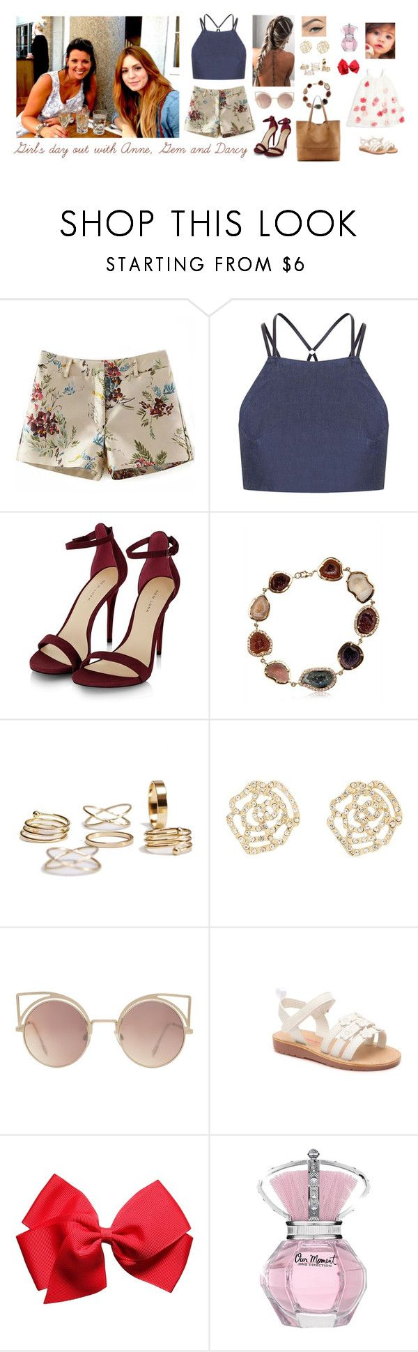 """""""Girl's day out with Anne, Gem and Darcy"""" by hazzabum ❤ liked on Polyvore featuring Topshop, Kimberly McDonald, Charlotte Russe, MANGO, Halabaloo, Carter's, Sole Society, harrystyles, dayout and darcy"""