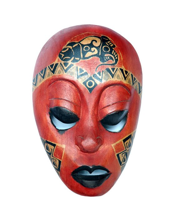 African Masks are the ultimate in artistic badassery...I love this don't you?