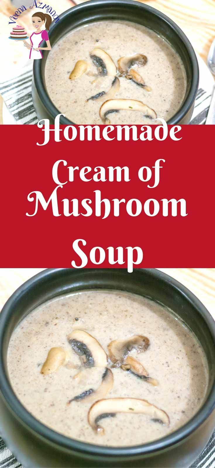 Simple, earthy, hearty, flavorful and fulfilling this homemade cream of mushroom soup is so easy to make with just a few simple ingredients you definitely have on hand. The best part it takes only 30 minutes to prepare, add a side of salad and you have dinner served. #creamofmushroom #soup #mushroom #soups #howto #cook #soupathome #recipe #mushroomsoup via @Veenaazmanov