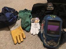 Miller Welding Helmet Jacket Gloves Bag