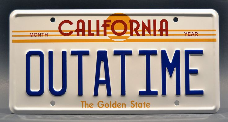 awesome Back to the Future / Delorean / OUTATIME *STAMPED* Prop Replica License Plate   Check more at http://harmonisproduction.com/back-to-the-future-delorean-outatime-stamped-prop-replica-license-plate/